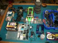 Remote control truck and extra parts lots of parts $250