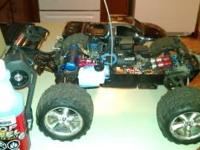 4 wheel drive, works amazing, fun car about 2 foot long