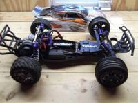 traxxas rustler vxl 2.4 radio lowered and