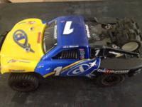 Traxxas slash 4x4. Two sets of paddles and bug body