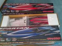 up for sale is 2 traxxas rc spartan boats the fastest