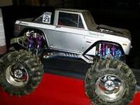 Older Traxxas T-Maxx Ford Bronco. Gas powered with