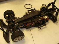 190mm touring car as is, motor works, has a traxxas