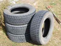 Set of used Trazano SU307 AWD all weather tires. Size
