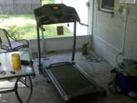 Horizon treadmill. Works fine no problems. $300.00. Thx