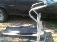 Treadmill $75 variable speed, 13 in x 4 ft belt. Folds