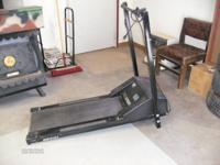 TREAD MILL, LIGHT WEIGHT, ADJUSTABLE SPEED, NO FRILLS