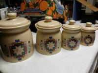 Treasure Craft 4 piece container set. Vintage Country
