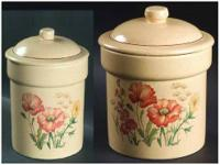 Treasure Craft Canisters in the Wildflower pattern