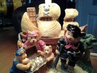for sale is a treasure island pirate bear lamp. can be
