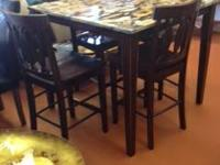 Distinct retro hand finished timber pub table with