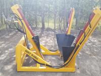 With the Dirt Works Tree Spade, your skid steer loader