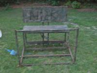 Home built tree stand that will seat two. has a
