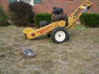 I have a stump grinder and will grind away that ugly