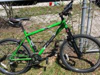 Lightly made use of mountain bike. It has plenty of