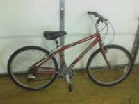 21-speed (7 gears x 3 gears) Trek mountain bike with