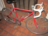 This is from the late  80's, steel frame  with alloy