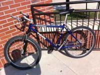 Up for sale is a sweet, old school mountain bike. I
