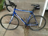 Great road bike. Adult 60 cm road bike. Blue and white.
