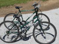 I have a pair of Trek Mountain track 800 Sport bicycles