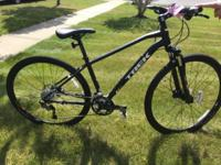 "2015 Trek 8.4 DS Hybrid bike 17.5"". Matte Black"