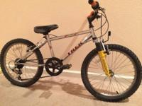 Hike 7 Speed 16in Hill Bike available. Great mountain