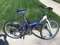 "21 speed Trek Mountain bike, 20"" rims, everything"