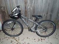 "Trek 4100 Mountain Bike, 13"" Color- Silver Trail B"