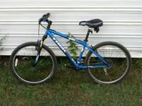 Trek mountain bike, excellent condition, has less than