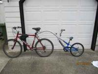 For sale is a used Trex Mountain Train Tag-a-long bike