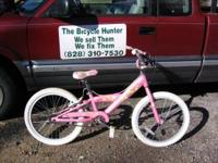 "2 20"" trek mystic girls bikes, one is pink the other is"