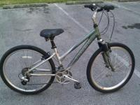 "Nice bike 18 speed grip shift. 14.5"" frame, 26"" wheels,"