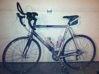 Trek 1000 63cm, new tires and tubes, aero bars, cat eye