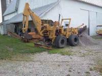 Trencher and backhoe, Vermer, M475, diesel. good
