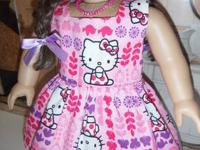 Girls just love Hello Kitty and this adorable dress