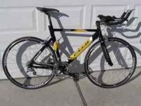 Great tri specific bike and price. Aluminum frame with