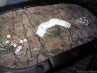 TRI-FOLD POKER TABLE TOP BY CABELA'S Approximate size