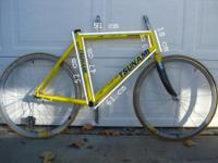 This is an Aluminum Tsunami road/tri frame. Very light.