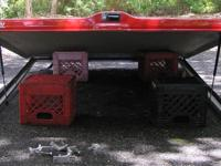 Tonneau was mounted on a full size Dodge duly 3500. Red
