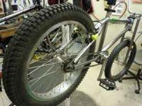 "Montey Trials bike, good condition. Has 19"" rear snow"