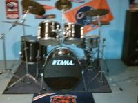 Red metallic Trick Drum set 10, 12, 14, and 16""
