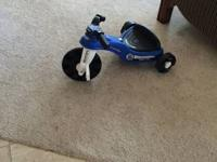 Trike, police model, for kids around 2-4 years old.