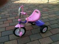 Western Flyer Tricycle, pink and purple for tot. Has