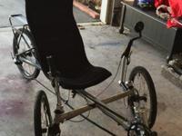 Like new 27 speed Trident Spike Recumbent Bike, along