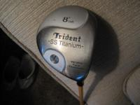 "TRIDENT SS TITANIUM 8 * LOFT SPACE ""VFT"" DRIVER. VFT IS"