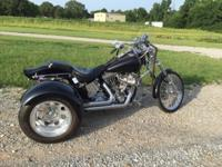 1989 Harley SS with Frankenstein trike This ad was