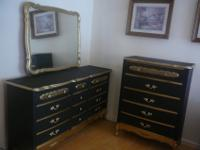 "Antique French Provincial Bedroom Furniture. 60"" Triple"