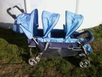 I have a light blue triple stroller to sell. All 3