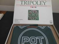 "This is a vintage 1960 ""deluxe"" Tripoley game by Cadaco"
