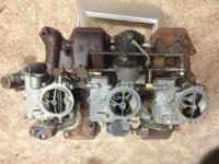 Oldsmobile three deuce carbs and intake  Carbs NOT